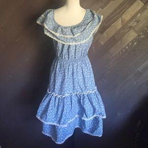 Vintage Blue Floral Dress 💙💙💙